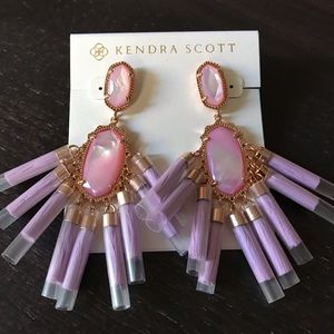 NWOT Kendra Scott Kristen Lilac Mother Of Pearl